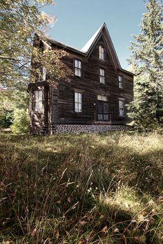Odd Designed Old Farm House
