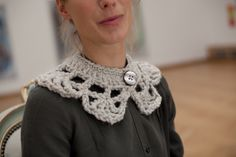 Crocheted collar --from another era