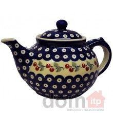Boleslawiec Tea Pot #5. Hand painted and decorated Polish pottery tea pot. Made in Poland. 1.5L. $39.99