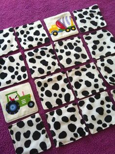 Toddler Memory Game: sewn from old sheet