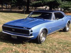 1967 Camero.  My first car. I ordered it from the factory but mine had a black top!  Loved driving this car! Drove it!
