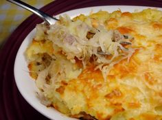 Sausage Sauerkraut Bake: This is a delicious and super quick dinner to make. The sauerkraut I use is local and adds a really good flavor coupled w/t spicy sausage meat. This is a great one plate dinner.