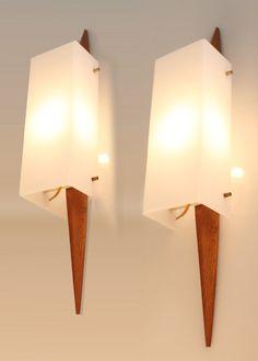 Pair of 60s  Danish Mid Century  Wall Light Lamp by ModernicA1