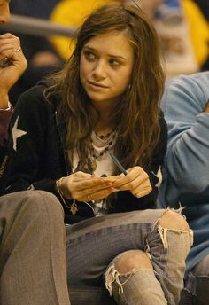 Mary Kate Olsen's hair. messy but i like it.