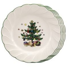 Debbie Mumm Magic Santa Dinner Plates | Christmas Dinnerware ...
