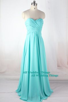 Ariel.... but add pearls to the bodice....Teal blue Bridesmaid dress long prom dress by allweddingthings