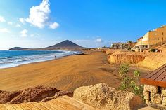 Early morning on El Medano beach, Tenerife | Weather2Travel.com #Tenerife #Spain #CanaryIslands #travel