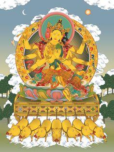 Chinese Buddhism, Tibetan Buddhism, Buddhist Art, Tibet Art, Vajrayana Buddhism, Buddhist Practices, Buddhist Traditions, Thangka Painting, Arte Tribal