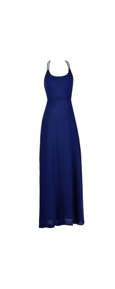 Back To You Rhinestone Embellished Maxi Dress in Royal Blue  www.lilyboutique.com