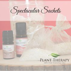 DIY Sachets using essential oils. Super easy, and the essential oils combination in these sachets just SPARKLES!