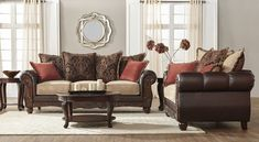 Bomber Chocolate Sofa and Love Seat Set 11250, $1,099.00 Sofa Bed, Sectional Sofa, Sofas, Couch, Buy Furniture Online, Living Room Sets, Love Seat, Upholstery, Chair