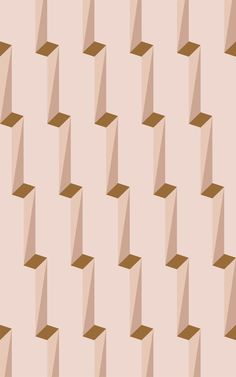 Escher Pink is a digitally hand-drawn pattern that gives your space a stylish perspective illusion. The artist uses tonal pink, neutral, and mustard shades in this repeat pattern wallpaper to create an eye-catching wall of shadowed geometric shapes. The design is inspired by observing the way that the sun casts shadows against building architecture, creating an eye-pleasing layered look.
