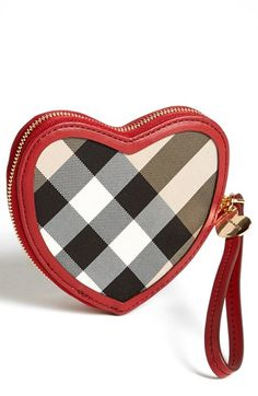 Burberry 'Ginevra' Wristlet (Girls) Lacquer Red