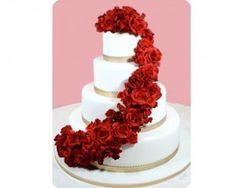 Fotos de pasteles de boda con rosas rojas (6)