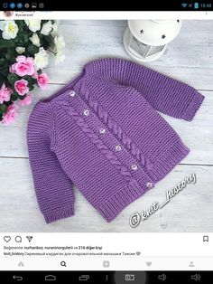 Baby Knitting Patterns, Knitting For Kids, Baby Patterns, Baby Cardigan, Garter Stitch, My Baby Girl, Baby Kids, Knit Crochet, Pullover