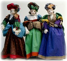 The Gossips CD and Pattern - Cloth Doll Making Sewing Pattern by Leslie Molen