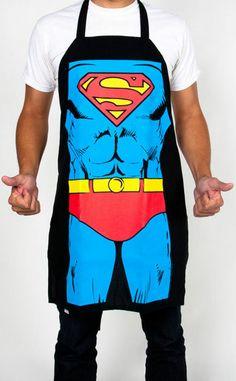 Superman Superhero Apron // #fathersday #giftidea