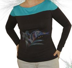 Items similar to shirt woman with abstract drawing. on Etsy Textiles, Abstract Drawings, Etsy, Sweatshirts, Blouse, Long Sleeve, Sleeves, Sweaters, Women
