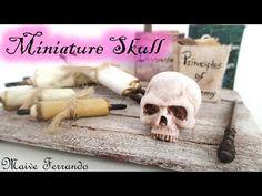 Miniature Polymer Clay Skull Tutorial // Maive Ferrando - YouTube