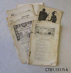Journals, The NZ School Journal; Department of Education; 1920-1953.
