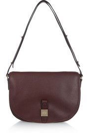 Tessie small textured-leather shoulder bag