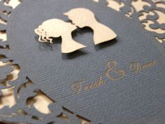 #Cameo #wedding #invitations. See the post at http://tulleandtwine.com/2013/11/21/cameo-invitations