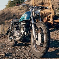"""Very nice treatment of this Honda CB360. love the slim, and stripped down look. """"It's rough around the edges, and will never be a trailer queen or photographed in the studio. But it's a bike that captures the simple fun of motorcycling."""" Word."""