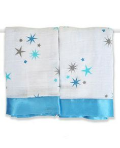 aden + anais 2 Pack Muslin Issie Security Blanket, Aurelia Blue Stars (Previous Model) (Discontinued by Manufacturer) Baby Swaddle, Swaddle Blanket, Swaddling Blankets, Toys Australia, Baby Security Blanket, Blue Blanket, Pink Stars, Receiving Blankets, Baby Store