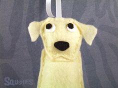 Handmade Felt Dog Ornament Labrador Christmas Ornament by Squshies