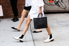 Victoria Beckham Follows Street Style Trends—the Proof Is on Her Feet via @WhoWhatWearUK