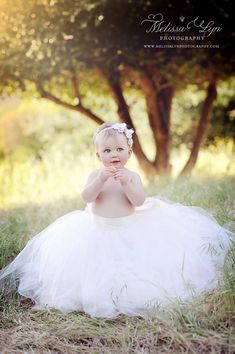 Baby tutu wedding tutus Flower Girl Dress by BambaroosBoutique, $125.00