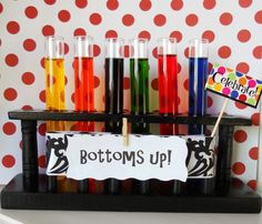 Test tube shot glasses by @Lindsey Grande Kuehm would appreciate this ;)