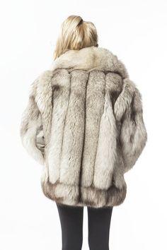 debe59b9f03 1970 S Vintage Large plus size  Mens Blue Fox Fur Coat