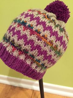 Ravelry: Simple Chevron Hat pattern by sarah farewell