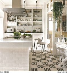 The Semi-Designed Life: Cement Tiles As The New Subway Tile?