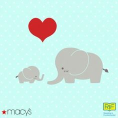 Send this card to a mom in your life and Macy's will donate $2 to RIF!