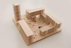 Malmo, Sweden Urbanism Proposal, jagenfelt milton, architectural model, maquette, maqueta, modulo
