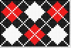 True Argyle- use for crochet pattern? Tapestry Crochet Patterns, Bead Loom Patterns, Cross Stitch Patterns, Knitting Charts, Knitting Stitches, Knitting Patterns, Cross Stitching, Cross Stitch Embroidery, Mochila Crochet