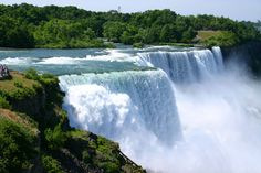 Niagara Falls, New York - Located along the United States–Canada border is the famous Niagara Falls, a popular spot for tourists.
