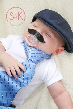 Baby Mustache Binky!!