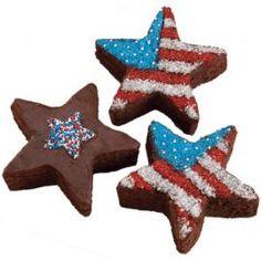4th of July *Food* - Star Making Brownies (tutorial)