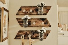 diy mason jar wall piece