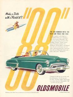 Oldsmobile ad in the same 1950 issue of Newsweek