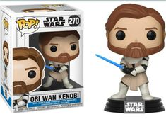 Funko Pop Star Wars, Star Wars Clone Wars, Star Wars Merchandise, Pop Vinyl Figures, Obi Wan, Special Characters, Stars, Sideshow, Gaming