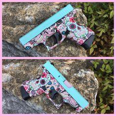 Sugar Skull Glock 42 -- fun concealed carry