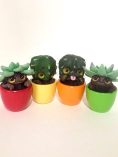 EXOTIC CACTUS COLLECTION Little succulent Ooak by FoxyMocksy