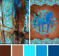 Add a bold blue look to your projects with this Venerable Blue color inspiration
