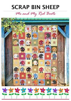 Looking for your next project? You're going to love Scrap Bin Sheep Quilt Pattern by designer MeandMyRedBoots.