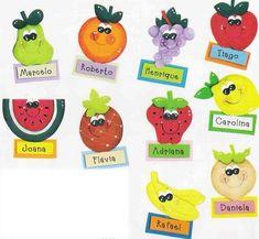 Moldes de frutas y verduras en goma eva - Imagui