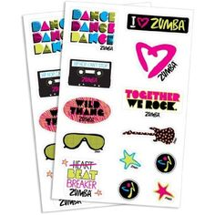 Zumba Fitness Together We Rock Tattoos! 1 Sheet of Temporary Tattoos! -- Want additional info? Click on the image. (This is an affiliate link) #TemporaryTattoos
